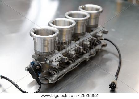 Racing Car Engine Component