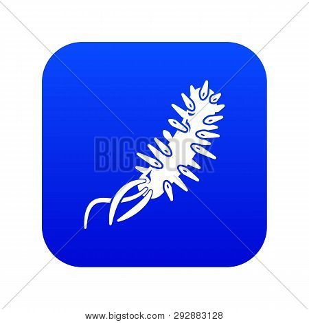 E Coli Bacteria Icon Blue Vector Isolated On White Background
