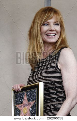 LOS ANGELES - JAN 23: Marg Helgenberger at a ceremony where Marg Helgenberger is honored with a star on the Hollywood Walk of Fame on January 23, 2012 in Los Angeles, California