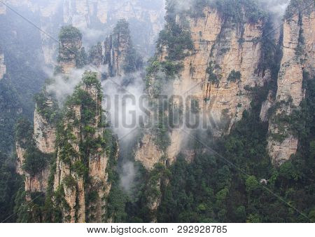 Zhangjiajie National Park, Hunan Province. China. Avatar Mountains