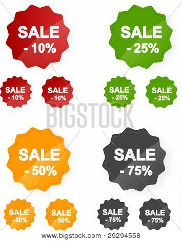 Vector sale stickers