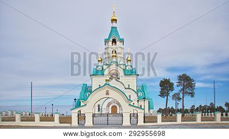 Orthodox Church Of St. Tatiana In Kogalym, Western Siberia.