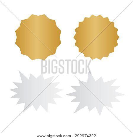 Set Of Vector Starburst, Sunburst Badges. Starburst Isolated Icons Set