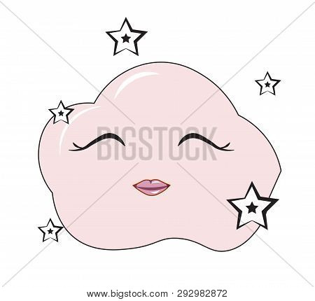 Glamour Cartoon Pink Cloud, Fairy Tale , Humour