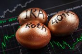 Saving for retirement with IRA. object. close up. macro photography poster