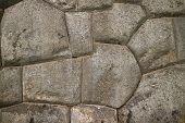 Unique Stonework of the Ancient Inca Walls of Sacsayhuaman Citadel, UNESCO World Heritage Site in Cusco, Peru poster