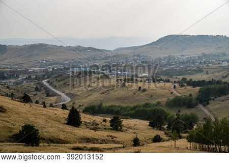 Cityscape View Of Cripple Creek, Colorado, An Old Wild West Mining And Gambling Town In The Rockies.