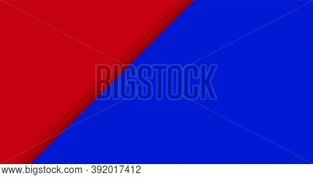 Color Background Red And Blue For Banner, Two Tone Opposite Colors, Crimson Red And Dark Blue Paper