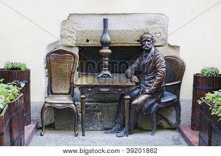 Monument Devoted Of Inventors Kerosene Lamps Jan Zeh And Ignacio Lukasiewicz