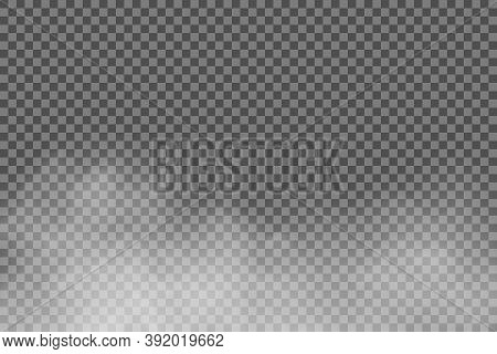 White Fog Texture Isolated On Transparent Background. Steam Special Effect. Realistic Vector Fire Sm