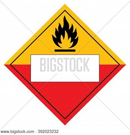 Blank Spontaneously Combustible Symbol Sign, Vector Illustration, Isolate On White Background Label.