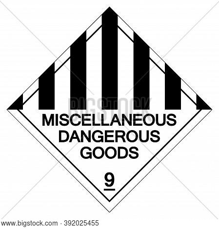 Miscellaneous Dangerous Goods Symbol Sign, Vector Illustration, Isolate On White Background Label. E