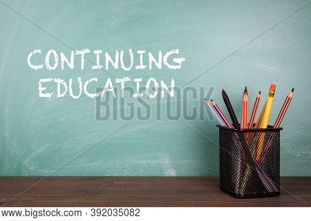 Continuing Education. Distance Learning, Courses, Training And E-learning Concept. Classroom With A