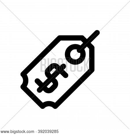 Price Tag Icon Isolated On White Background From Shopping Collection. Price Tag Icon Trendy And Mode