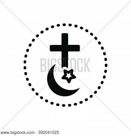 Black Solid Icon For Religion Faith Denomination Creed Church Ritual Morality Islam