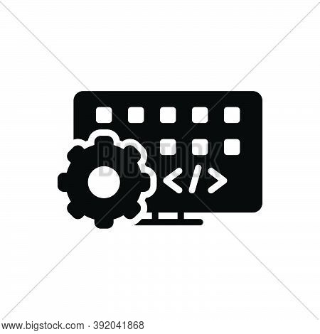Black Solid Icon For Developing Software Application Web Code Management Technology Coding Configure