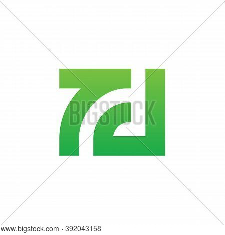 Initial Letter Td Or 7d Logo Icon Design, Square Shape Monogram Illustration