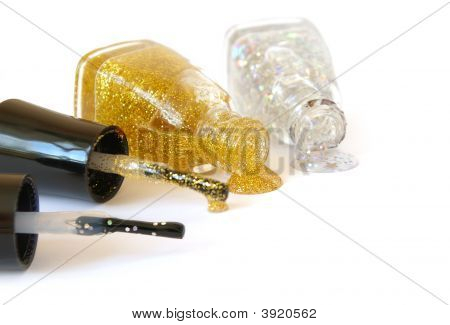 Gold Enamels Isolated