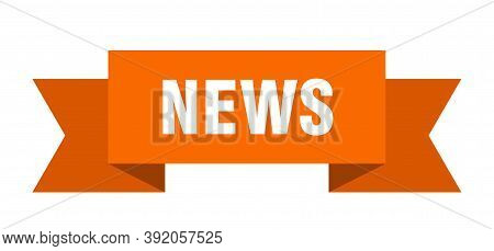 News Ribbon. News Isolated Sign. News Banner