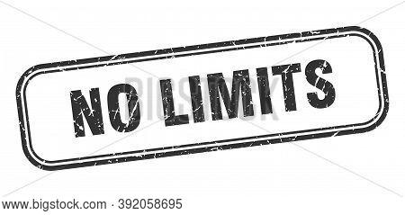 No Limits Stamp. No Limits Square Grunge Sign. No Limits