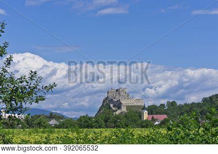 Trencin, Beckov Castle Ruins View, Slovakia, Europe