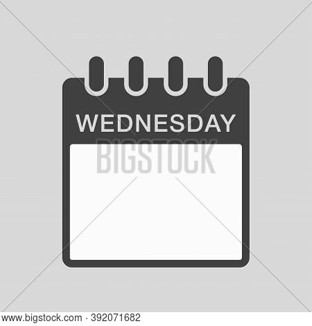 Vector Icon Calendar, Days Of The Week Wednesday