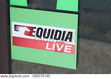 Bordeaux , Aquitaine / France - 10 20 2020 : Equidia Live Logo And Text Sign Of French Tv Channel Th