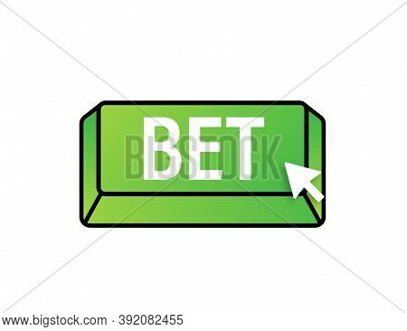 Apply Now. Arrow, Cursor Icon. Hand Click. Online Betting. Vector Stock Illustration.