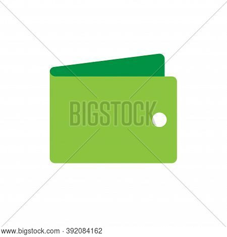 Wallet Vector Icon Isolated Flat Cartoon Symbol, Mone Case Or Portemonnaie Purse Pictogram