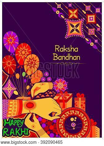 Decorated Rakhi For Indian Festival Raksha Bandhan Of Brother And Sister Bonding Celebration In Indi