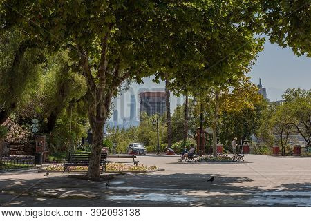 Santa Lucia Hill Park In Downtown Santiago, Chile