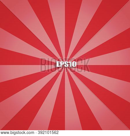 Red Radius Background For Template And Banner Product Background. Vector Illustration.