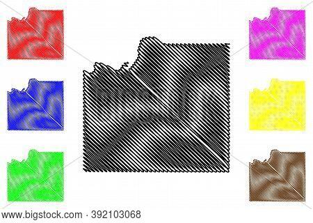 Johnson County, Kansas (u.s. County, United States Of America, Usa, U.s., Us) Map Vector Illustratio