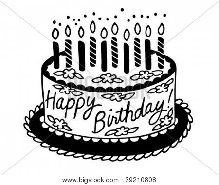 Happy Birthday Cake Retro Vector Photo Bigstock