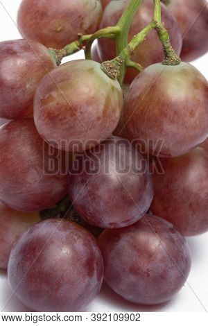Close Up Red Grapes For Use As Background Images.