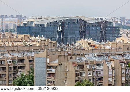 Skyscrapers Buildings Rooftop Cityscape New Belgrade Serbia
