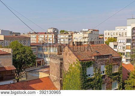 Old Residential Buildings Day In Belgrade Serbia