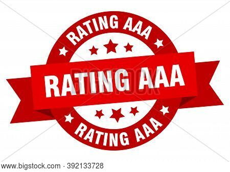 Rating Aaa Round Ribbon Isolated Label. Rating Aaa Sign