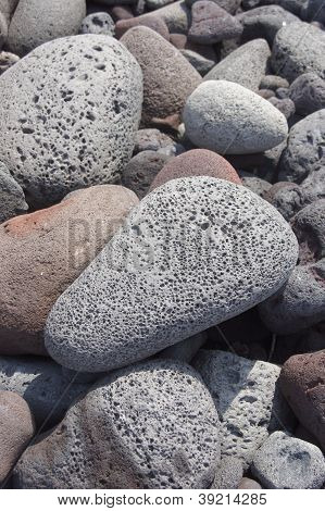 Lava Rocks, Rounded By The Ocean