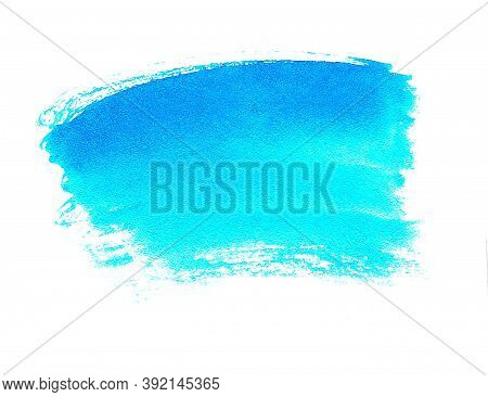 Watercolor Bright Spot With A Gradient From Dark Blue To Sky Blue Turquoise Color With Stripes Hand