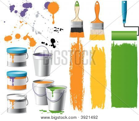 Buckets With Paint