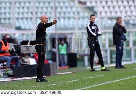 Torino, 28th October 2020. Eugenio Corini Head Coach Of Us Lecce  During The Coppa Italia Match  Bet