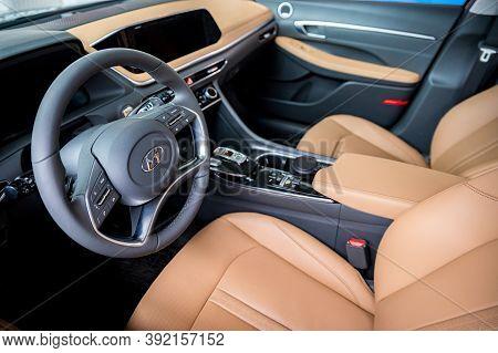 Rostov-on-don, Russia - Circa March 2020: Hyundai Sonata, The Latest Generation