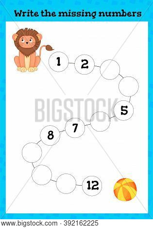 Write The Missing Number - Worksheet For Education