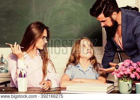 Home Tutoring Concept. Tutors And Afterschool Programs. Individual Approach. Tutor For Excellence. E