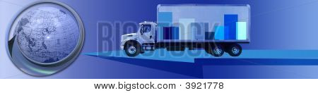 Transportation Banner With A Truck