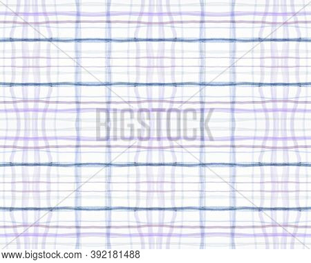 Red And Blue Tartan Prints. Seamless Textured Cloth. Scottish Plaid Fabric. Vintage Woven Blanket. G