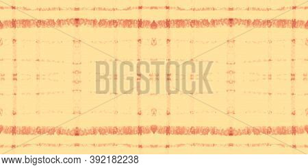 Autumn Tartan Pattern. Watercolor Picnic Blanket. Color Squares For Twill Print. Seamless Red Tartan
