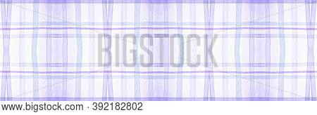 Purple Flannel Checks. Watercolour Stripes Blanket. Man Checkered Tablecloth. Seamless Flannel Check