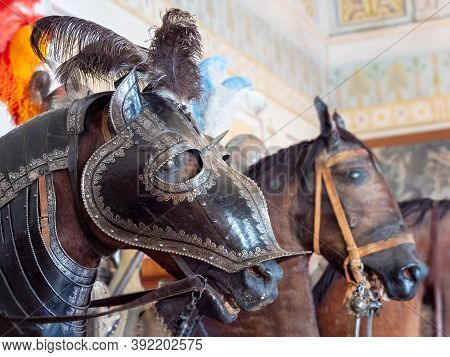 Horse Knight Mannequin, Hermitage The Knights Hall, Close Up